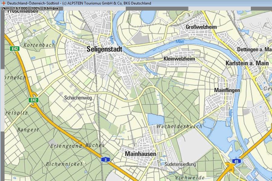 Germany Austria South-Tyrolia Top100 QV-Map, 49,00 €