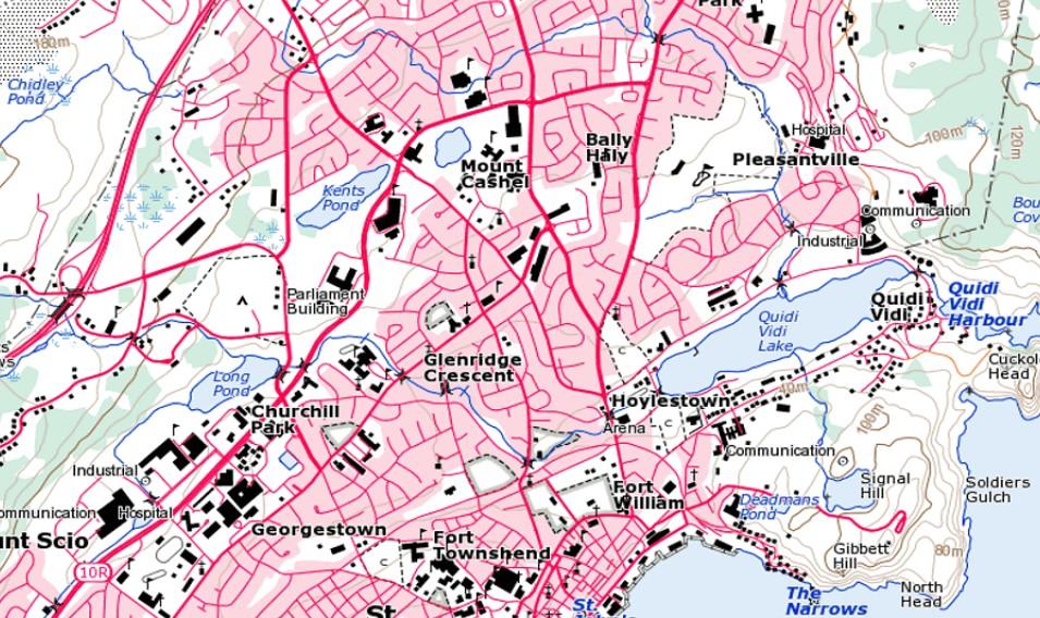 Newfoundland und Labrador, Kanada, 1:50K Topo, QV-Map und DEM ...