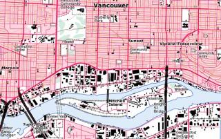 British Columbia, Kanada, 1:50K Topo, QV-Map und DEM ...