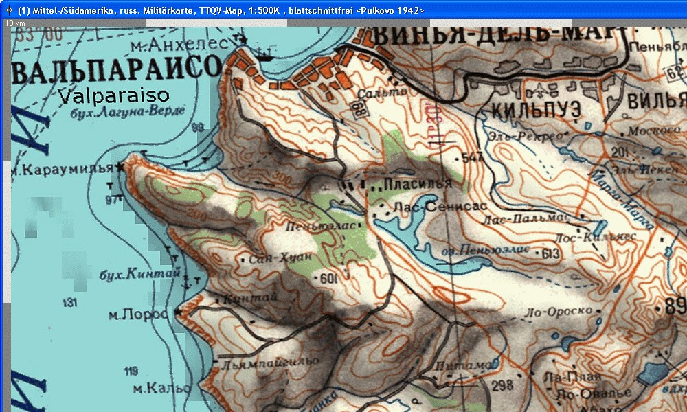 Central-, South-America Russ500K Topo QV-Map, 139,00 €